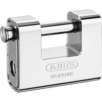 Abus 80mm 92 Series Steel Clad Body Brass Shutter Padlock