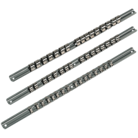 Sealey 3 Piece Combination Drive Socket Retaining Rail Set