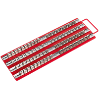 "Sealey Socket Rail Tray 1/4"", 3/8"" and 1/2"" Drive"
