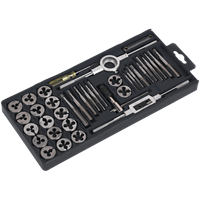 Sealey AK301 40 Piece Carbon Steel Tap and Split Die Set Metric