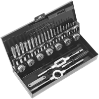 Sealey 32 Piece Metric HSS Tap and Die Set