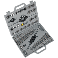 Sealey AK303 45 Piece Tungsten Steel Tap and Split Die Set