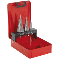 Sealey 3 Piece M2 HSS Step Drill Bit Set