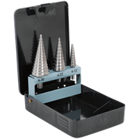 Sealey 3 Piece HSS Step Drill Bit Set