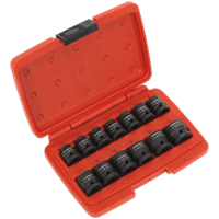 "Sealey AK5613LP 13 Piece 1/2"" Drive Impact Socket Set"
