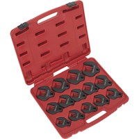 "Sealey 14 Piece 1/2"" Drive Crow Foot Spanner Set Metric"