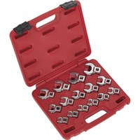 "Sealey 15 Piece 3/8"" Drive Crow Foot Spanner Set Metric"