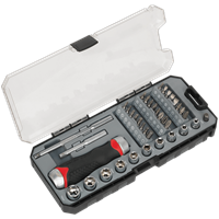 Sealey 38 Piece Fine Tooth Ratchet Screwdriver Accessory Set