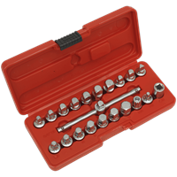 Sealey AK6586 18 Piece 3/8 Drive Oil Drain Plug Key Set