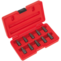 Sealey 10 Piece Multi Spline Screw Extractor Set