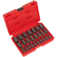 Sealey 25 Piece Multi Spline Screw Extractor Set