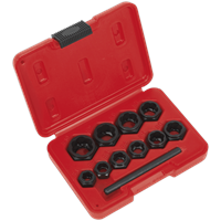 Sealey 10 Piece Spanner Type Bolt Extractor Set