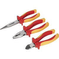 Sealey 3 Piece VDE Insulated Plier Set