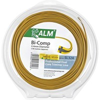 ALM SL324 Replacement Bi-Component Square Grass Trimmer Line 2.4mm x 80m for All Medium Duty Petrol Grass Trimmers using 2.4mm Line