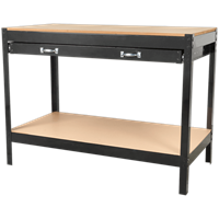 Sealey Metal Workbench with MDF Work Top and Drawer