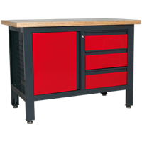 Sealey Workstation with 3 Drawers and 1 Cupboard
