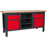 Sealey Workstation with 2 Drawers, 2 Cupboards