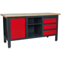 Sealey Workstation with 3 Drawers, 1 Cupboard