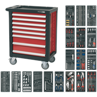 Sealey Premier 8 Drawer Roller Cabinet + 707 Piece Tool Kit