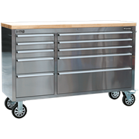 Sealey 10 Drawer Mobile Stainless Steel Tool Cabinet