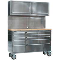 Sealey Mobile Stainless Steel Tool Workstation
