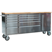 Sealey 10 Drawer Mobile Stainless Steel Tool Cabinet & End Cupboard