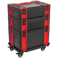 Sealey ABS Plastic Stacking Tool Box Tower & Trolley