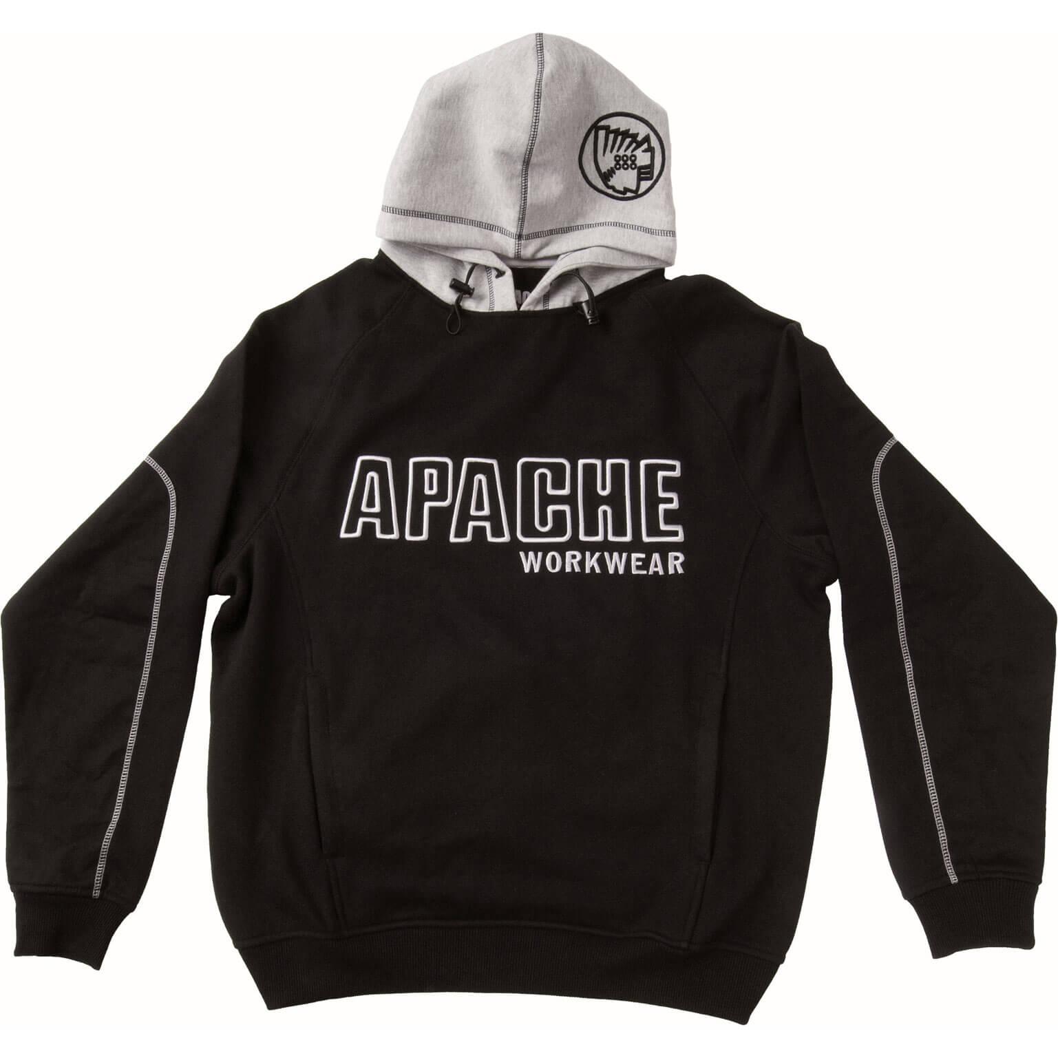 Image of Apache Mens Work Hoodie Black / Grey L