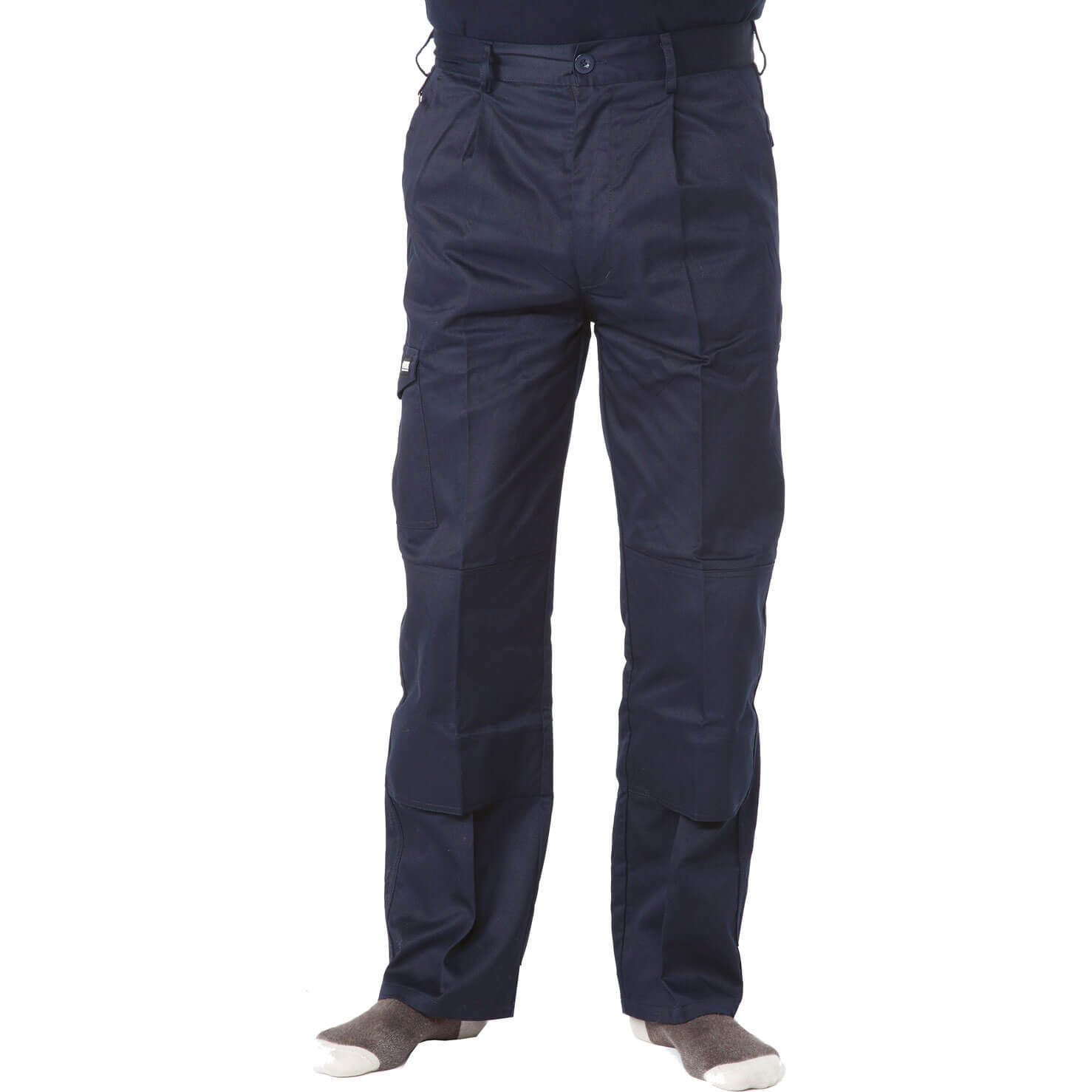 "Image of Apache Mens Industry Trousers Navy Blue 32"" 31"""