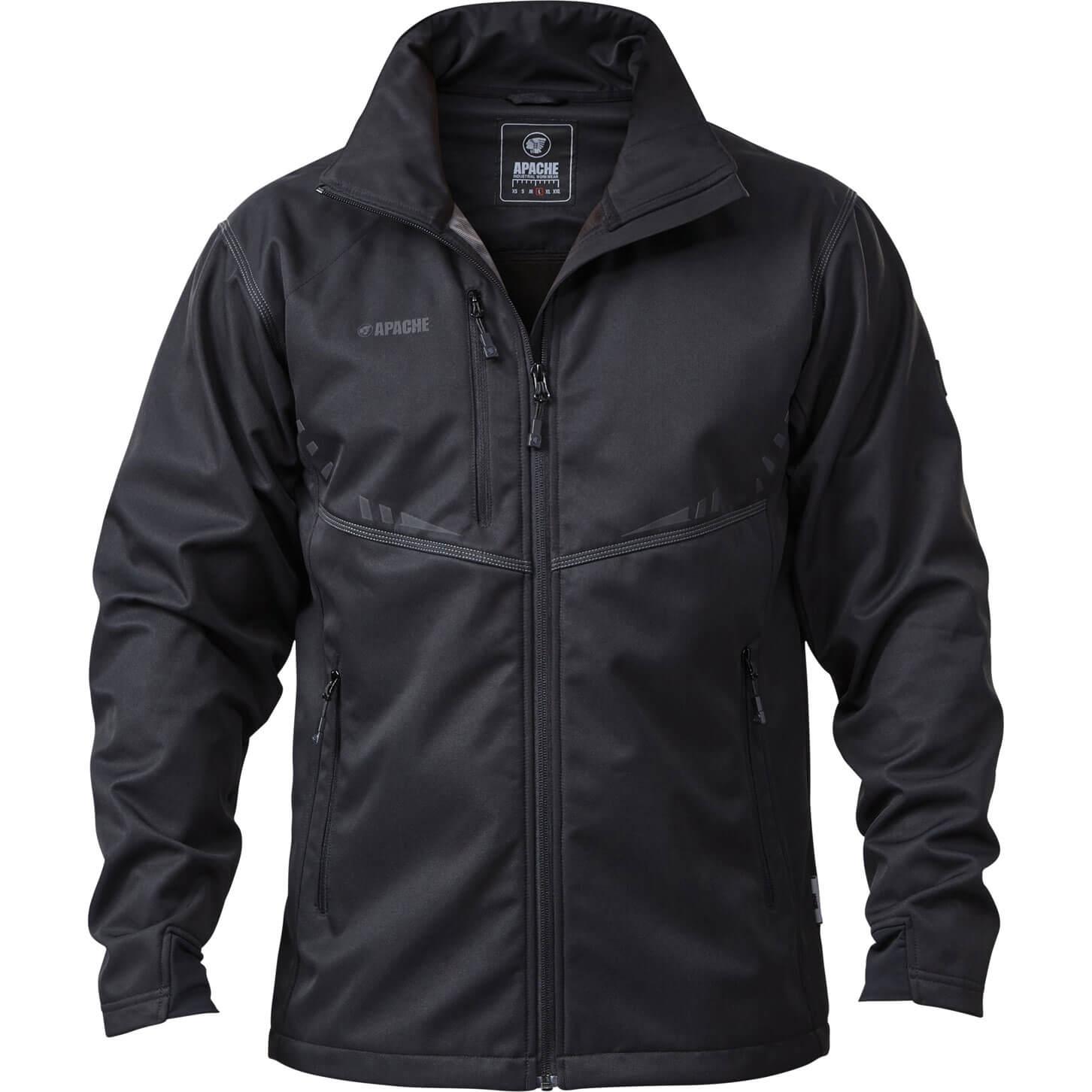 Image of Apache ATS Lightweight Soft Shell Jacket Black XXL
