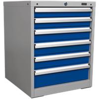 Sealey Premier Industrial Workstation Cabinet 6 Drawer