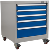 Sealey Premier Industrial Mobile Cabinet 5 Drawer