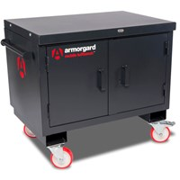 Armorgard Mobile Tuffbench Secure Cabinet and Workbench