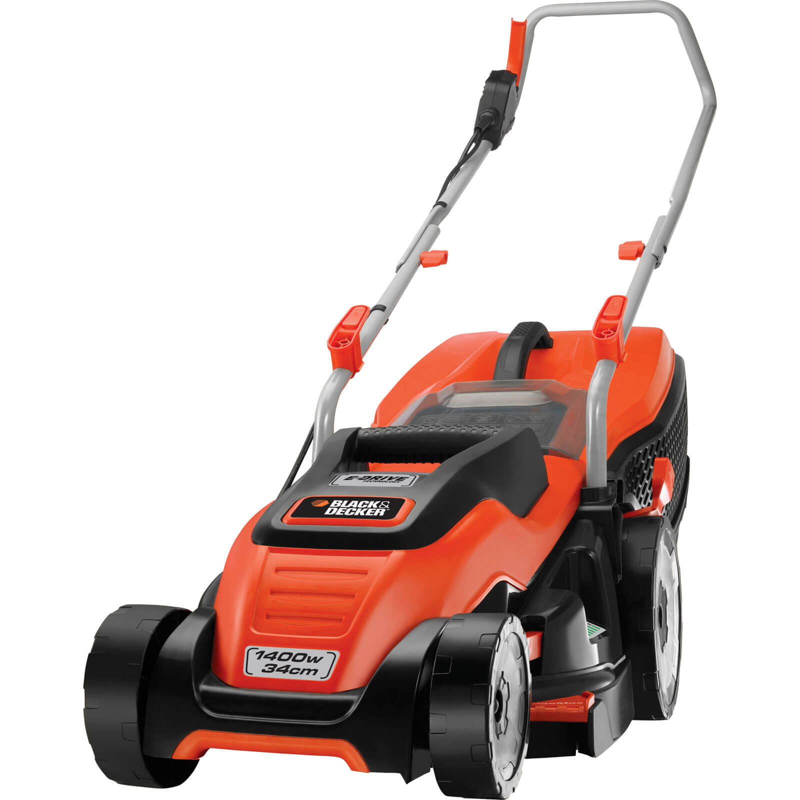 Image of Black & Decker EMAX34i Compact & Go Rotary Lawnmower 340mm 240v