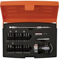 Bahco 22 Piece Stubby Ratchet Screwdriver and Bit Set