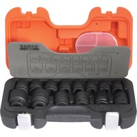 "Bahco 10 Piece 1/2"" Drive Deep Impact Socket Set"