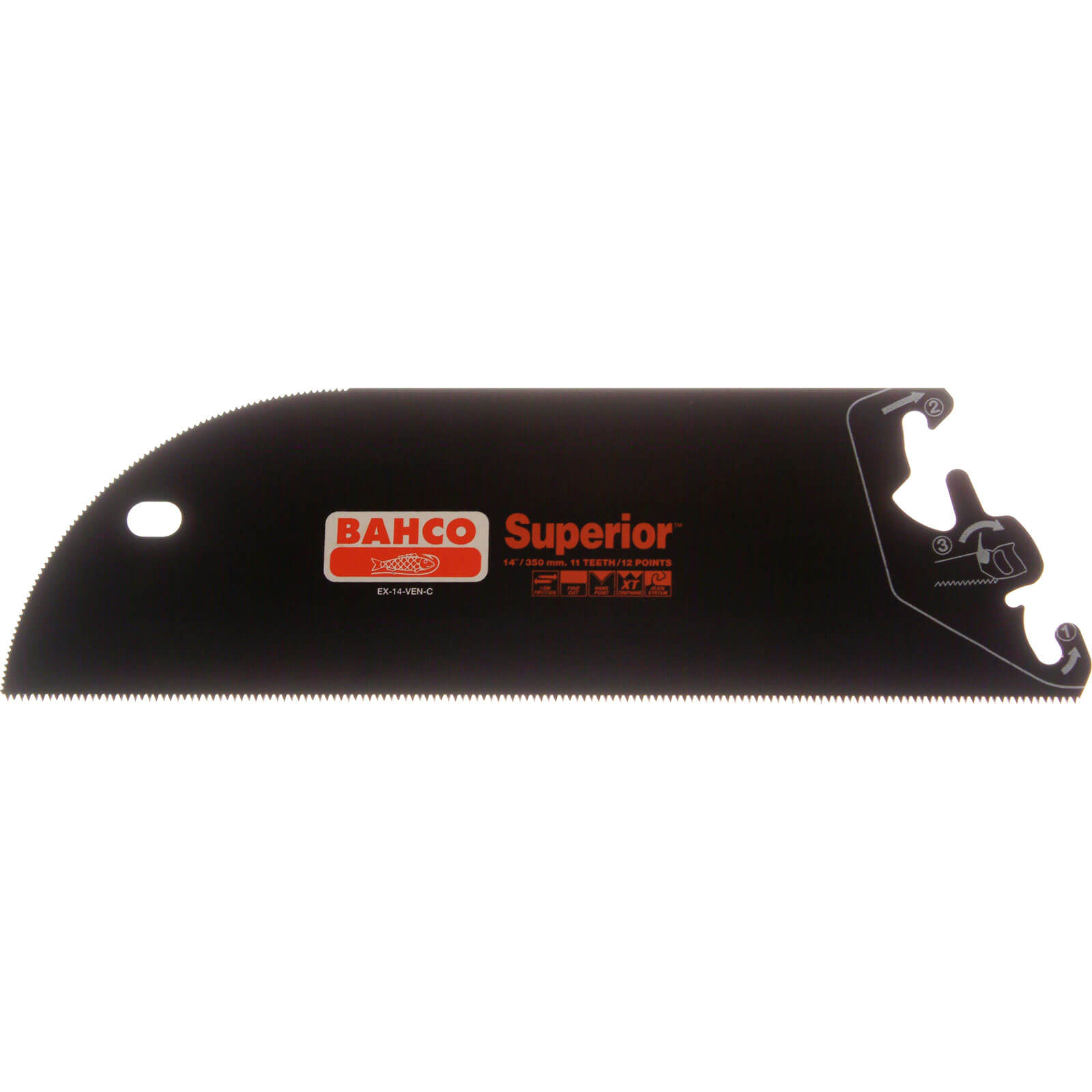 Bahco Superior Hand Saw System Veneer Saw Blade 14  350mm 11tpi