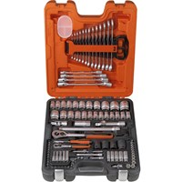 Bahco S106 106 Pieces 1/4 & 1/2In Drive Socket & Spanner Set