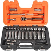 Bahco 53 Piece Combination Drive Hex Socket & Bit Set Metric