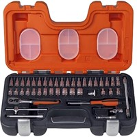 "Bahco 46 Piece 1/4"" Drive Hex Socket & Socket Bit Set Metric"