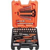 Bahco 81 Piece Combination Drive Hex Socket, Screwdriver Bit, Spanner & Pliers Set Metric
