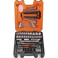 Bahco S87+7 94 Pieces 1/4 & 1/2In Drive Socket & Spanner Set