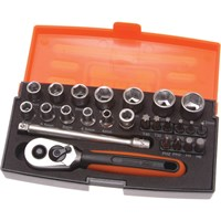 Bahco SL25 25 Piece 1/4In Drive Socket Set