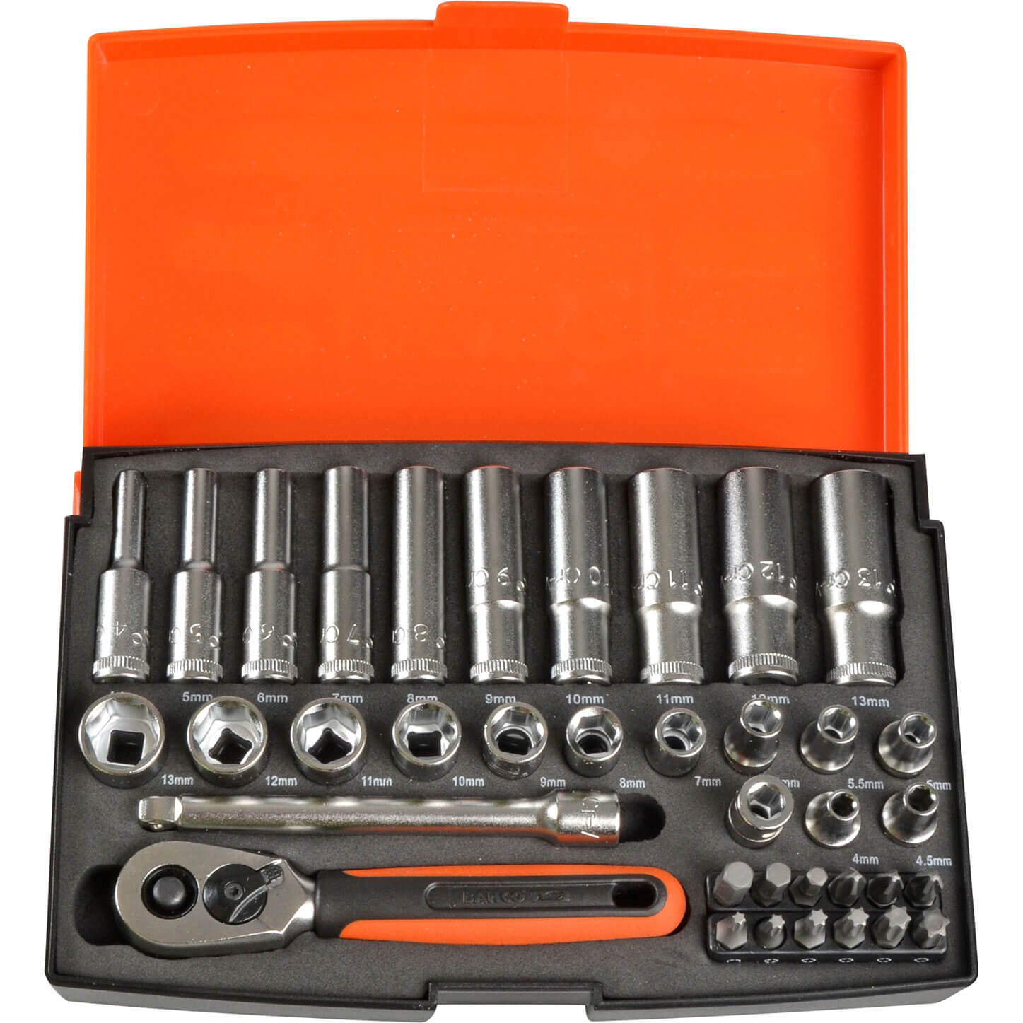 "NEW BAHCO SL25 SOCKET SET 25 PIECE 1//4/"" DRIVE"