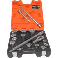 "Bahco 17 Piece 3/4"" Drive Hex Socket Set Metric"