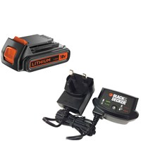Black & Decker Genuine 18v Li-ion Battery & Charger Pack 1.5ah