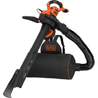Black and Decker BEBLV301 Garden Vacuum and Leaf Blower with Back Pack Collection and Rake