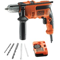 Black & Decker CD714EDSK Electric Hammer Drill with Detector & Bit Set