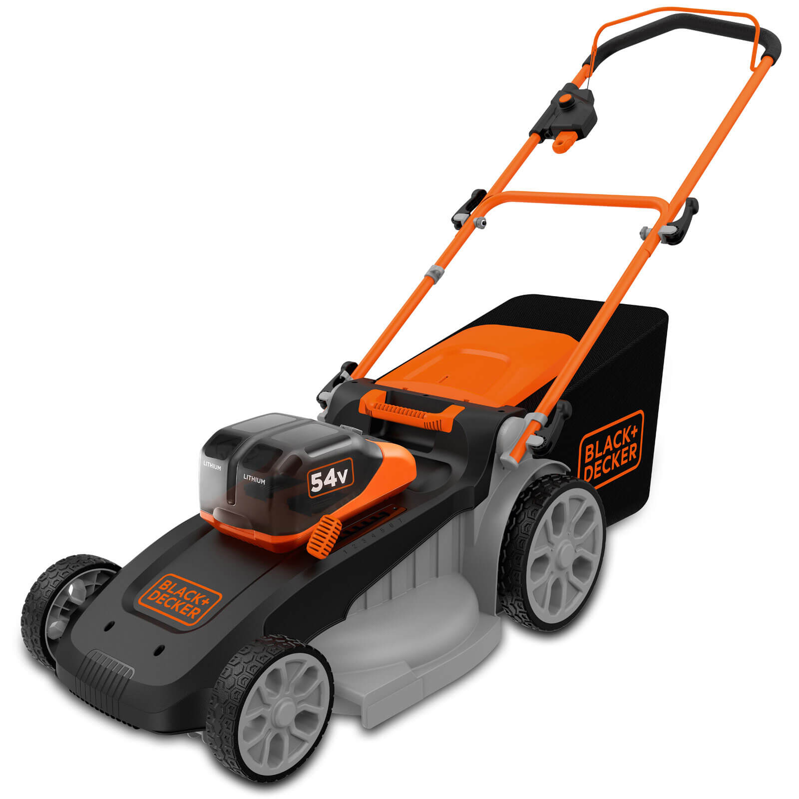 Image of Black and Decker CLM5448PCB 54v Cordless Dualvolt Rotary Lawnmower 480mm 2 x 2.5ah Li-ion Charger