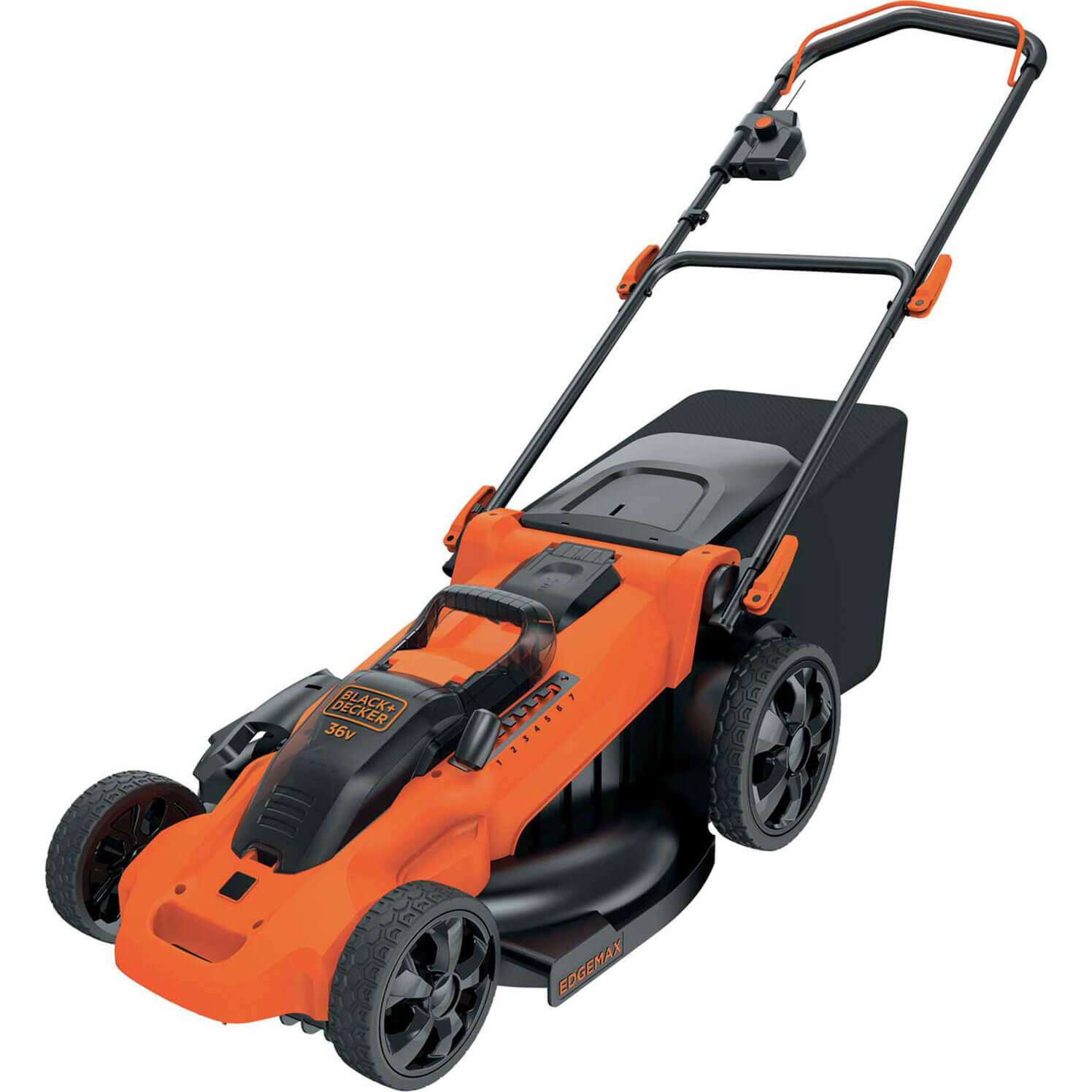Image of Black and Decker CLMA4820L 36v Cordless Autosense Rotary Lawnmower 480mm No Batteries No Charger
